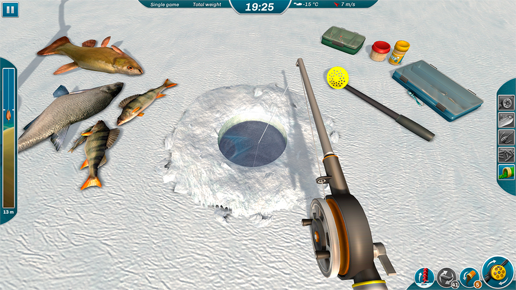 Image gallery ice fishing games for Ice fishing derby game